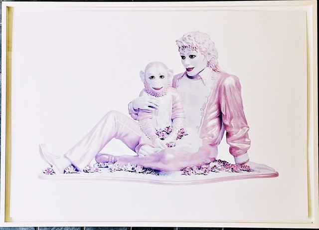 , 'Portrait of Michael Jackson and Bubbles (Pink),' 1995, Alpha 137 Gallery