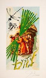 Ten of Staves, from Lyle Stuart Tarot Prints
