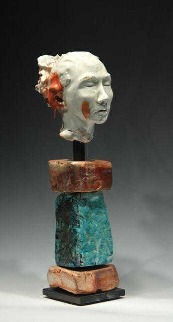 , 'Noborigama Woman Red Drip on Ear,' 2014, Maria Elena Kravetz