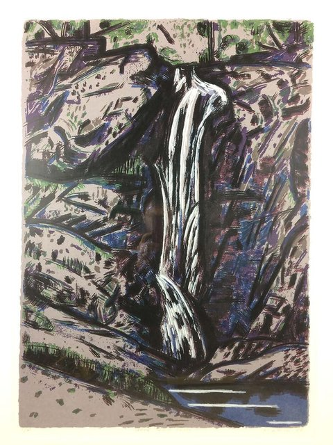 Jeffrey Makin, 'Cedar Creek Falls', 1988, Print, Screenprint on paper, Angela Tandori Fine Art