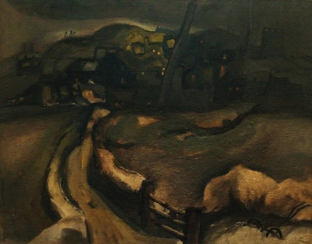 , 'Aspatria under snow,' ca. 1958, Castlegate House Gallery