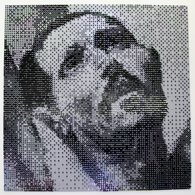 Gustavo Prado, 'Martyr', 2019, Painting, Legos on wooden board, Galerie Richard