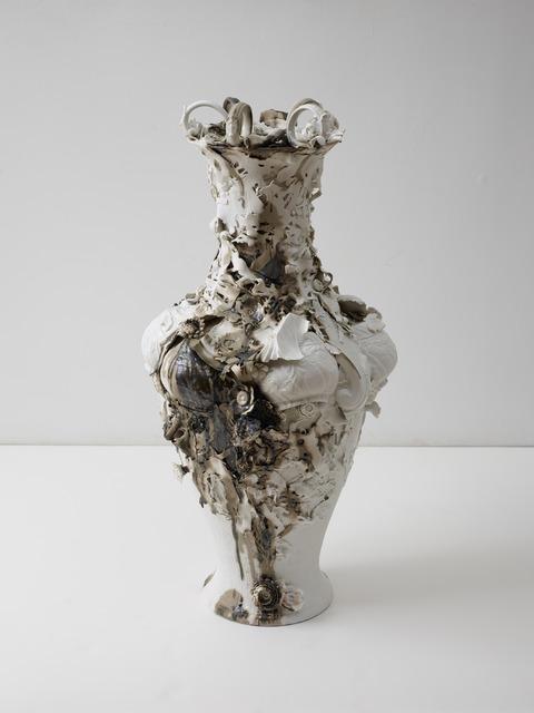 Arlene Shechet, 'Swan Vase', 2013, Sculpture, Glazed Meissen porcelain and gold, ICA Boston