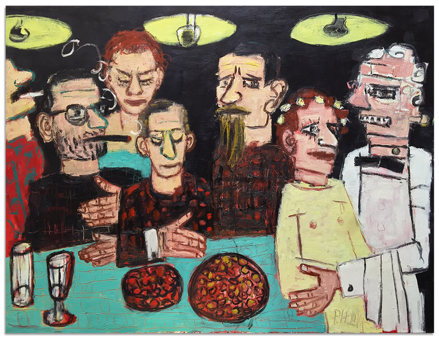 , 'Group Discussion for Four hand with Frankenstein and His Beloved,' 2014, Anna Zorina Gallery