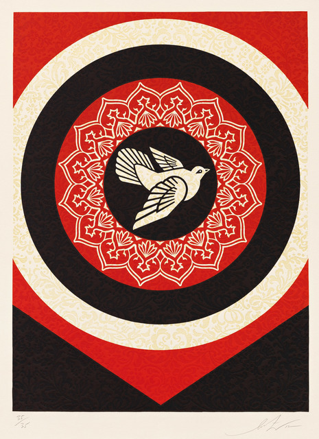 Shepard Fairey (OBEY), 'Dove Target Black', 2012, Pace Prints