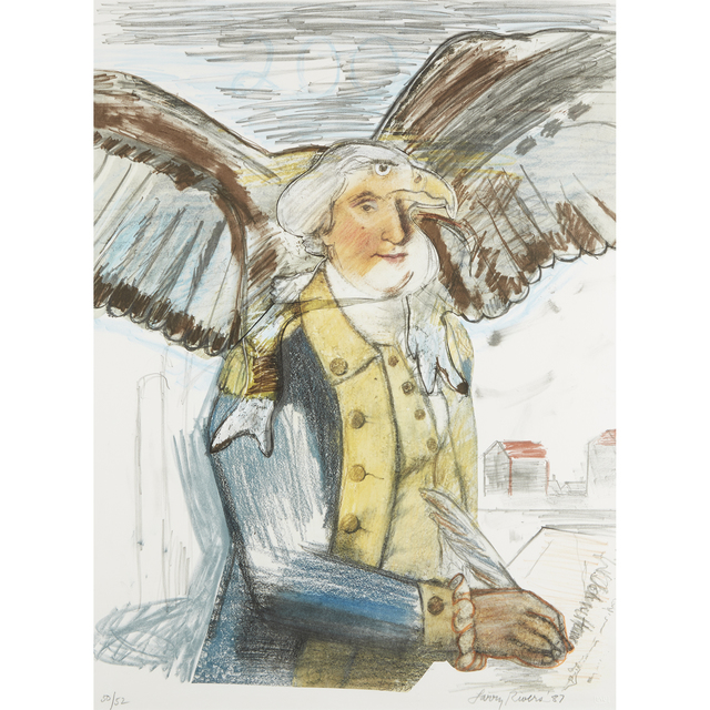 Larry Rivers, 'Bald Eagle George And Part Of The Constitution', 1987, Freeman's