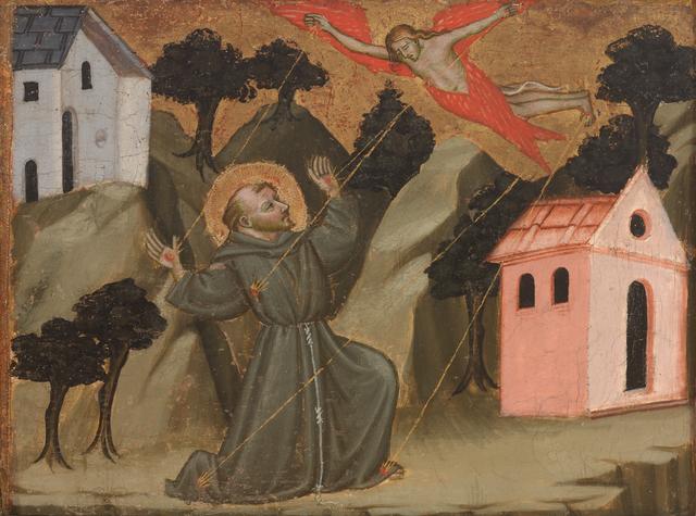 Mariotto di Nardo, 'Saint Francis Receiving the Stigmata', ca. 1408, RISD Museum