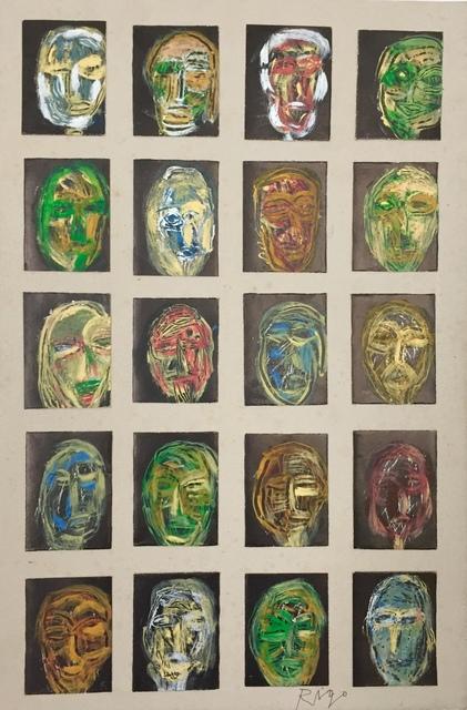 Rigo (José Rigoberto Rodriguez Camacho), 'Study of 20 Heads', 2016, Thomas Nickles Project