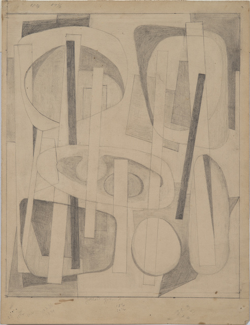 """, 'Drawing for """"Bearings Charted in Yellow"""",' ca. 1946, Washburn Gallery"""