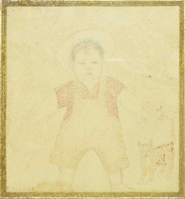 Marie Vorobieff Marevna, 'David Phillips, the artist's grandson, and his cat', Roseberys