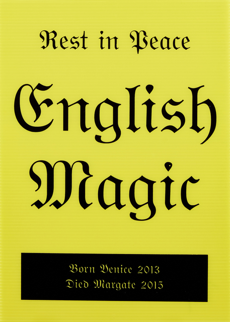 Jeremy Deller, 'Rest in Peace English Magic', 2014, Print, Screenprint on corrugated plastic, Roseberys