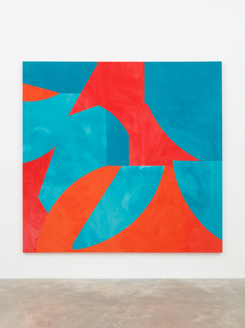 , 'Sliced Shapes, Turquoise and Reds,' 2018, Casey Kaplan