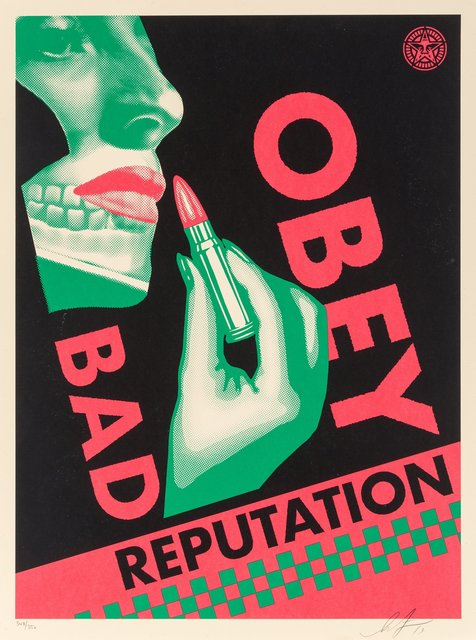 Shepard Fairey, 'Bad Reputation (Black)', 2019, Heritage Auctions