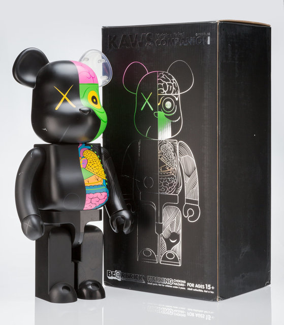 KAWS, 'Dissected Companion 1000% (Black)', 2010, Other, Painted cast viyl, Heritage Auctions