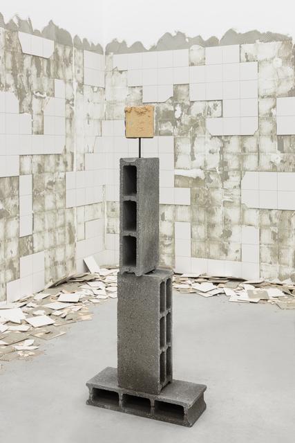 Marcelo Cidade, 'Arqueologia do Descaso / Archeology of Neglect', 2018, Sculpture, Concrete bricks, metal structure and 18th century tiles, Galeria BRUNO MÚRIAS