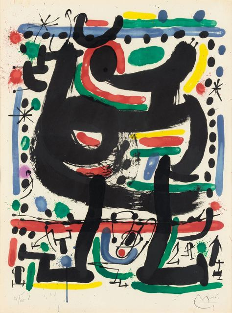 Joan Miró, 'POSTER FOR THE OPENING OF MOURLOT ATELIER IN NEW YORK (M. 512)', 1967, Doyle