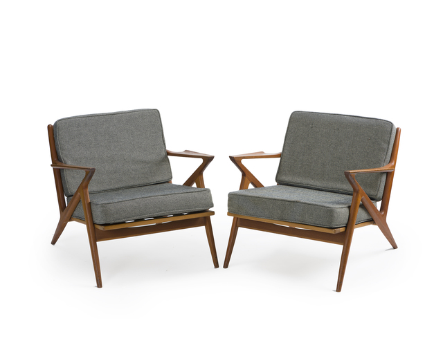 'A pair of Poul Jensen for Selig Z lounge chairs', John Moran Auctioneers