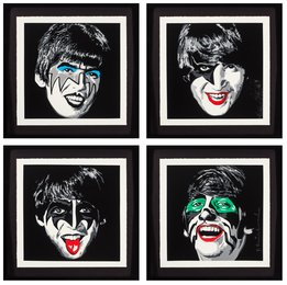 Kiss the Beatles, set of four
