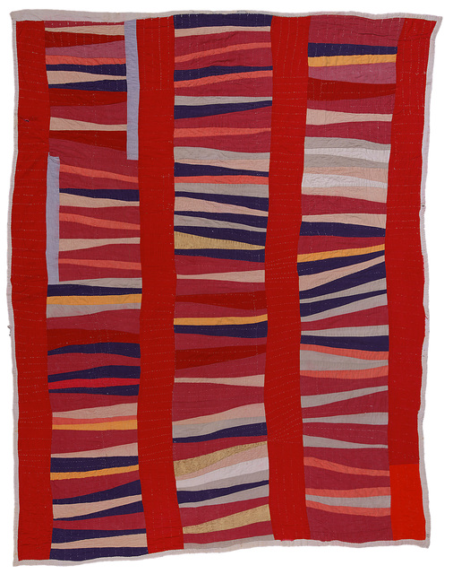 Jessie T. Pettway, 'Bars and String-Pieced Columns', ca. 1950, de Young Museum