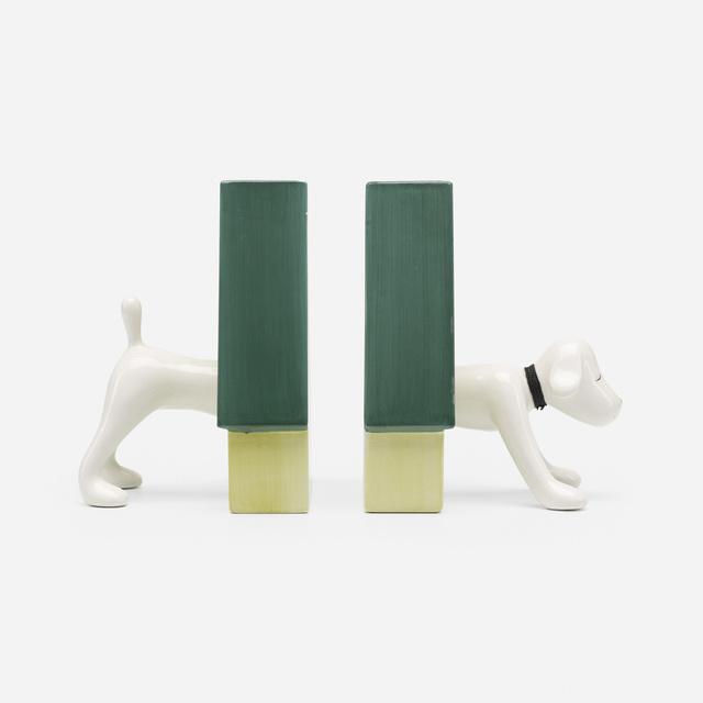 Yoshitomo Nara, 'Puppy bookends', 2002, Wright