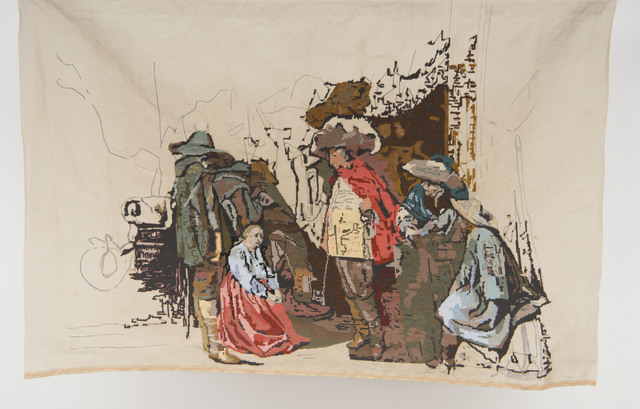 ", 'Banner 2, from ""Corps de garde suppliant les soldats"", Willem Cornelisz Duyster,' 2009, The Gallery Apart"