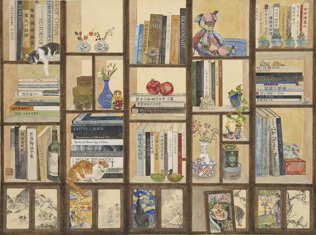 , '책가도에 담긴 이야기,' 2016, Leehwaik Gallery