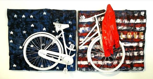 , 'Bike Usa Flag,' 2017, Galleria Ca' d'Oro