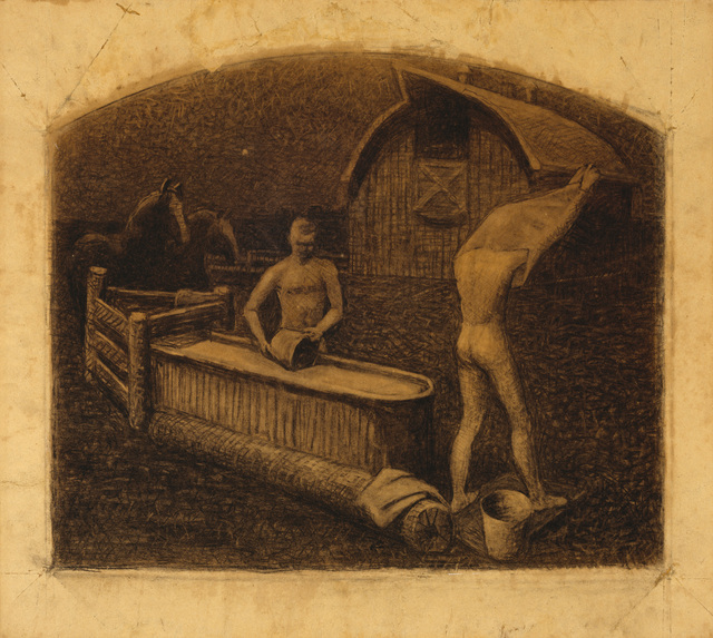 , 'Saturday Night Bath,' 1937, Whitney Museum of American Art