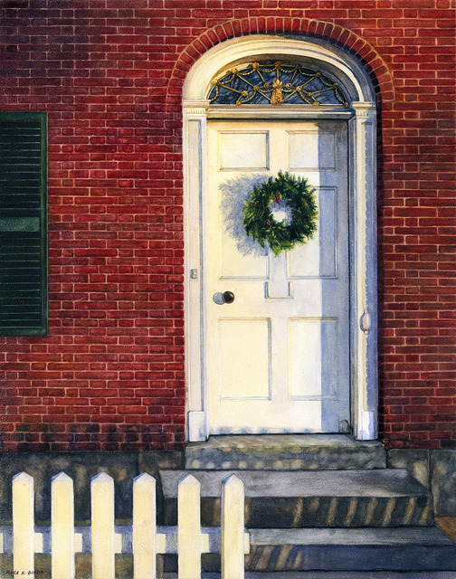 , 'Deerfield Wreath,' ca. 2018, Copley Society of Art