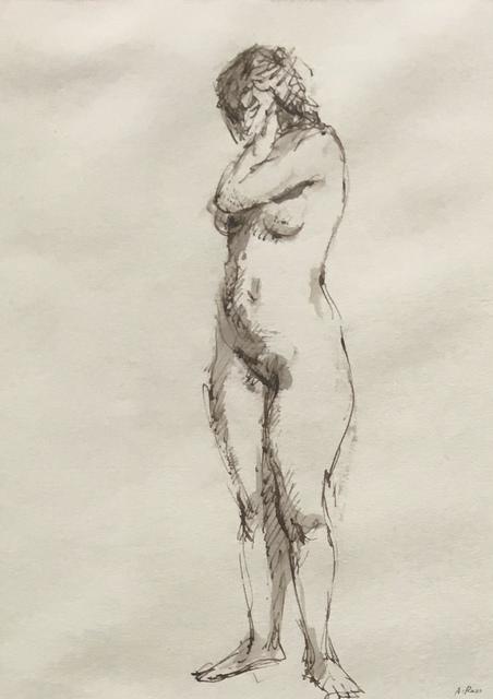 , 'Standing Female Nude,' Mid 20th c., Bakker Gallery
