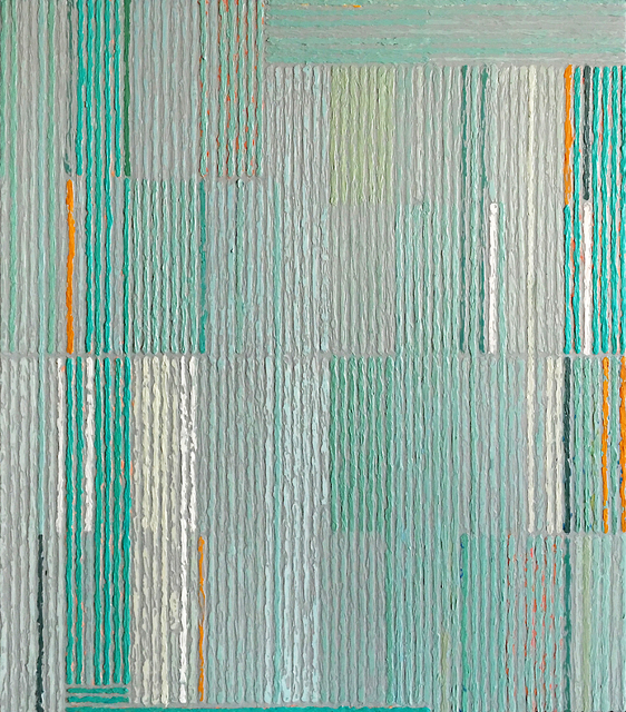 , 'Stacked Pattern With Aqua & Gold,' , Nüart Gallery