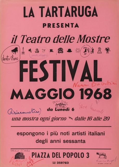 Il Teatro delle Mostre, 'Festival Maggio 1968', Finarte