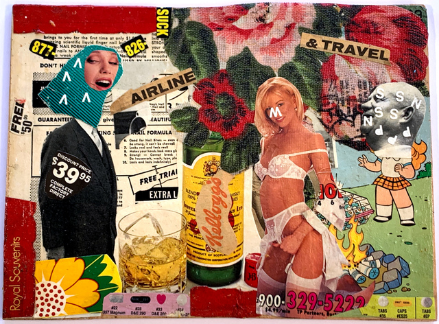 Bäst, 'Get High Before You Fly', 2009, Mixed Media, Collage on found wood, Tate Ward Auctions