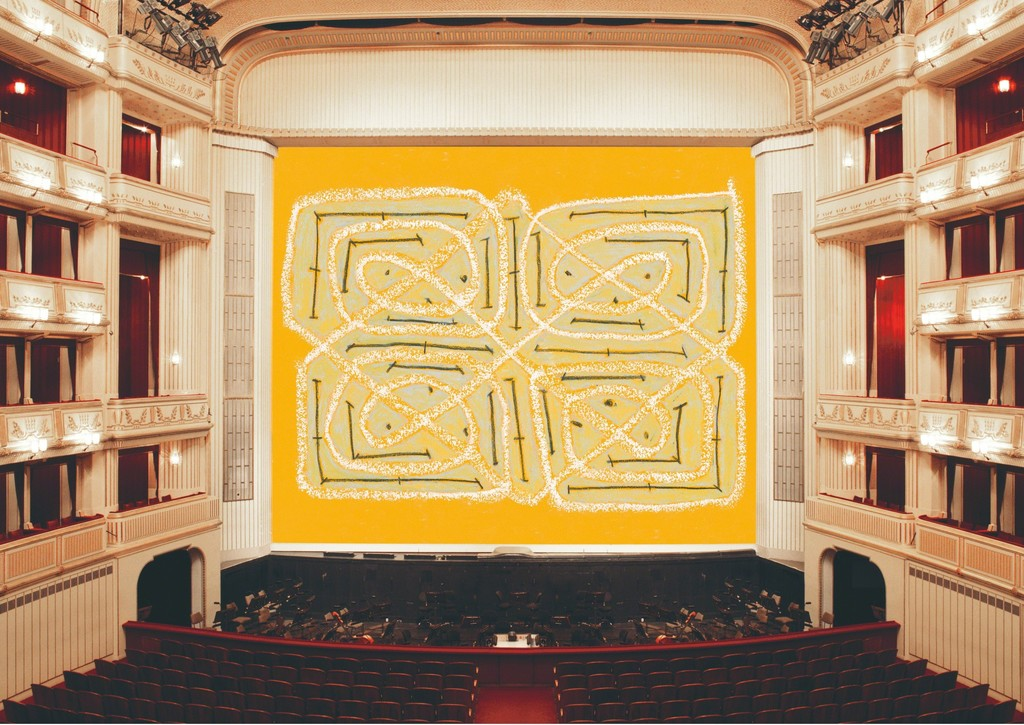 Joan Jonas, Safety Curtain 2014/2015, Vienna State Opera, © museum in progress (www.mip.at)
