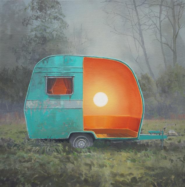 , 'Turquoise Egg Caravan,' 2016, bo.lee gallery