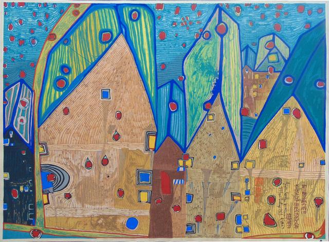 , 'Houses in Rain of Blood   Häuser im Blutregen,' 1961, Gilden's Art Gallery