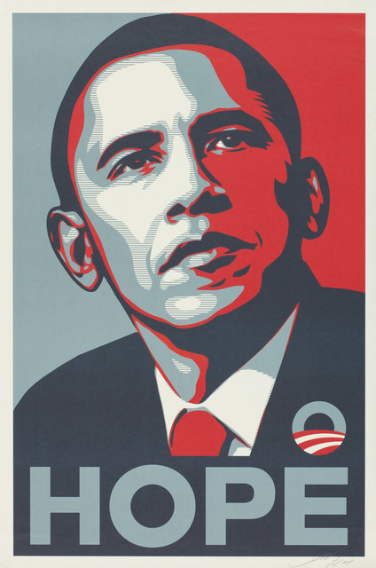 Shepard Fairey (OBEY), 'Hope', 2008, Heritage Auctions