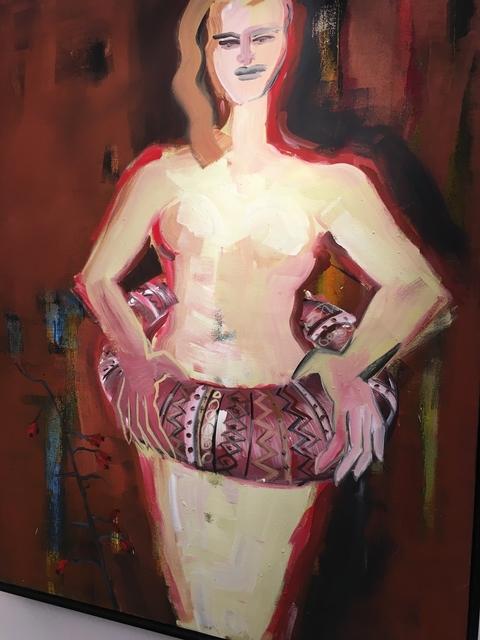 , 'Weiblicher Akt mit Rettungsring,' 1991, Galerie Kornfeld