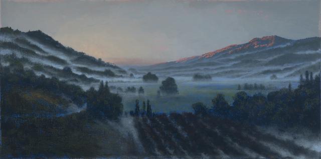 Stephen Hannock, 'Silverado Ribbons, Calistoga Dawn (Mass MoCA #240)', 2016, Painting, Polished oil on canvas, Berggruen Gallery