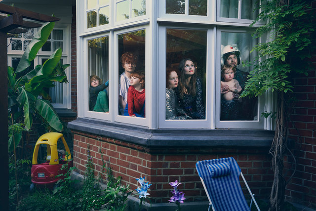 Julia Fullerton-Batten, 'Sophie Bextor-Ellis, Richard Jones and Family, Lockdown Day 53', 2020, Photography, C-Type print, MC2Gallery