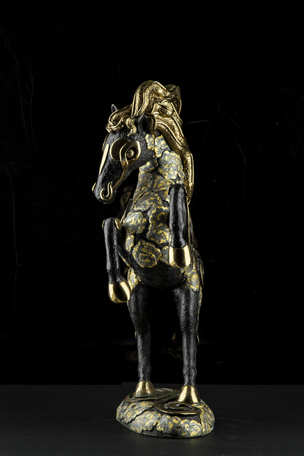 Jiang Tiefeng, 'China Gilt Bronze Horse Statue Contemporary Art Sculpture', 1994, Modern Artifact