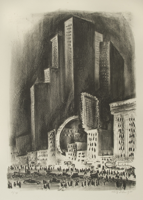 , 'New York Night,' 1930, Thomas French Fine Art