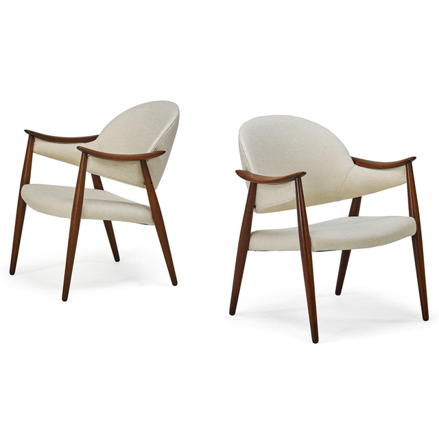 'Pair Of Lounge Chairs,', 1960s, Rago/Wright