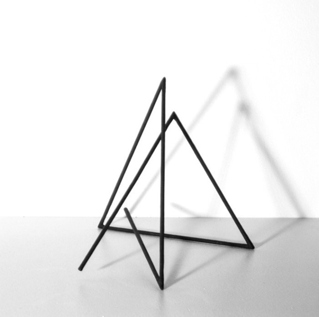 , 'Trait 78 noir,' 2015, Galerie Marie-Robin