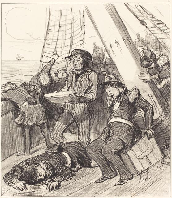 Honoré Daumier, 'Plusieurs gardes nationaux qui n'avaient pas songé...', 1848, National Gallery of Art, Washington, D.C.