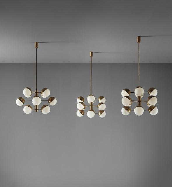 Stilnovo, 'Set of three ceiling lights', circa 1960, Phillips
