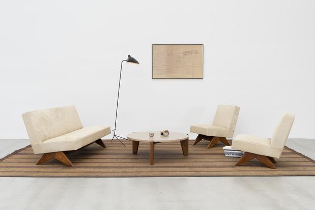 Pierre Jeanneret, 'Sofa set', ca. 1955-56, Design/Decorative Art, Teak & skin, Galerie Patrick Seguin