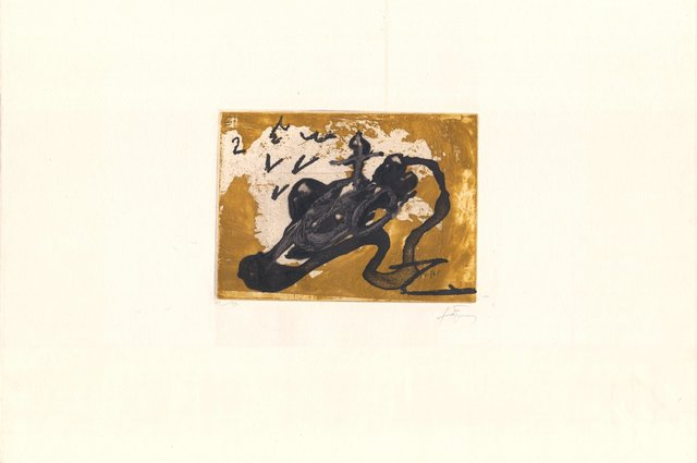 Antoni Tàpies, 'Sabata i ocre', 1980-1990, ARTEDIO