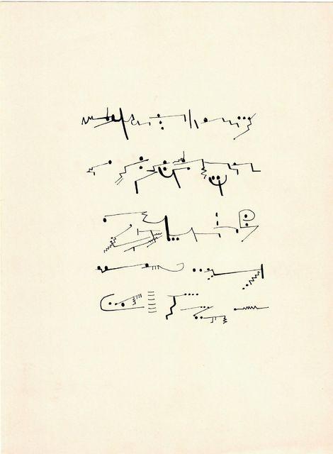 Mirtha Dermisache, 'Sin título (Texto)', ca. 1970, Herlitzka + Faria