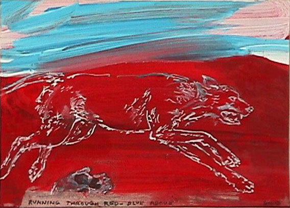 , 'Running Through Red-Blue Above,' 1999-2000, Christine König Galerie